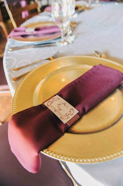 Best part of these napkin rings - they were made out of all the offcut paper used for the wedding invites - so we saved the bridal pair money and the napkin rings looked completely unique.