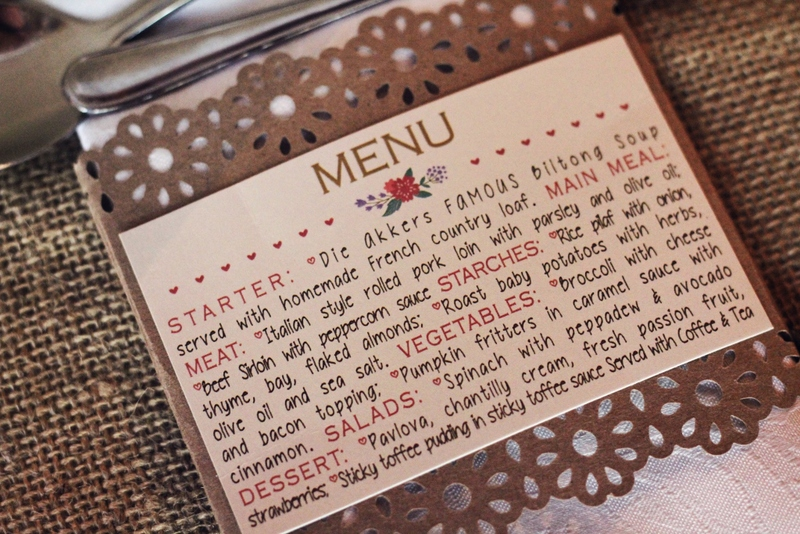 Great idea to make menu's that doubles as napkin holders as well. This is also made with recycled paper.