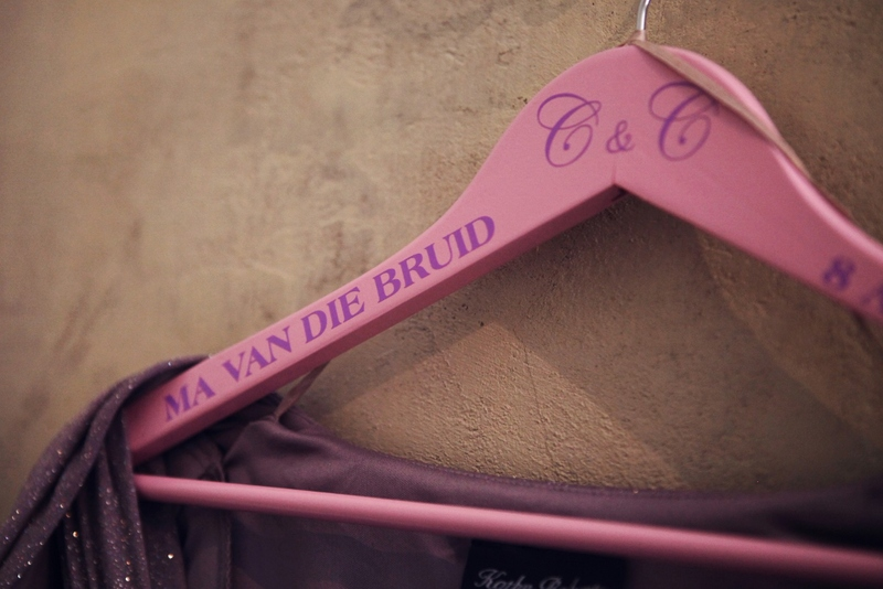Don't break bank - get hangers you like and we will make stickers for you to add yourself for all those DIY brides.